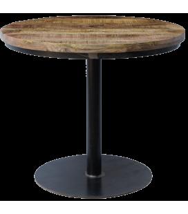 Table A Manger Vieux Bois Ronde ø 90cm