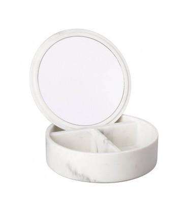 Boite A Bijoux Carrare Miroir