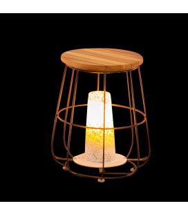 Lampe Table Dewi en bois et acier