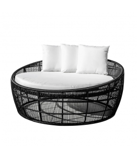 Lit Rond Dido 160 Black - Outdoor