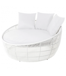 Lit Rond Dido 160 White - Outdoor
