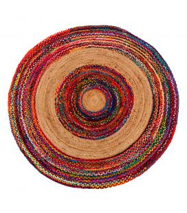 Tapis Jute Rond Multicolore Ø180cm