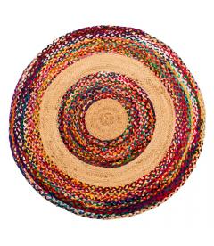 Tapis Jute Rond Multicolore Ø120cm