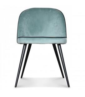 Chaise Ingrid Bleu Vert Artic Gansé Noire