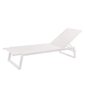 Chaise Longue Nadia Blanc - Outdoor