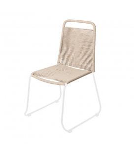 Chaise Cord Garden Taupe/White - Outdoor