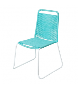 Chaise Cord Garden Bleu/White - Outdoor