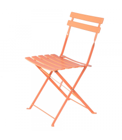Lot de 2 Chaises Pliantes Époxy Corail - Outdoor
