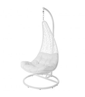 Fauteuil Dido Suspendu Blanc + Support - Outdoor