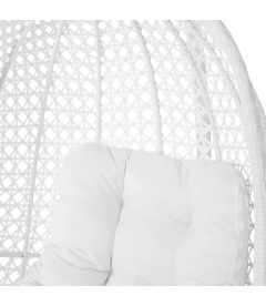 Fauteuil Dido Oeuf Suspendu Blanc + Support - Outdoor