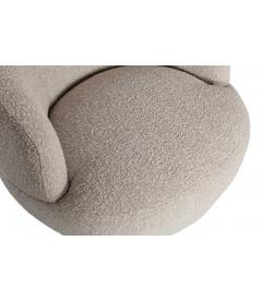 Fauteuil Pivotant Wooly Tissu Bouclé Naturel