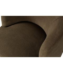 Fauteuil Pivotant Wooly Peau de Mouton Vert Chaud