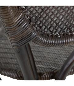 Chaise Florès Antique Croisillons Marron Foncé