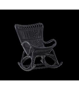 Rocking Chair Noir Monet by Sika-Design