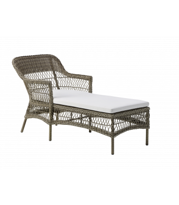 Chaise longue Olivia Outdoor coussin écru inclus by Sika-Design