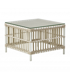 Table Basse Caroline Blanc Tourterelle Outdoor