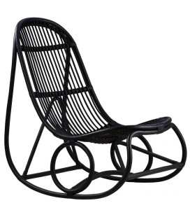 Rocking Chair Noir Mat Nanny by Nanna DITZEL