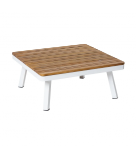 Table de Salon Saskia Aluminium/Bois 75cm