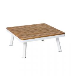 Table de Salon Saskia Aluminium/Bois 75cm