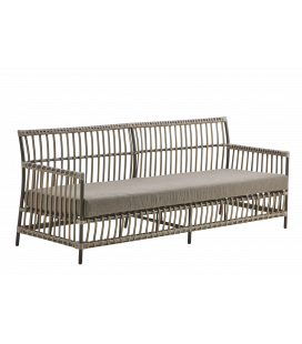 Fauteuil Caroline Moccacino Outdoor avec Coussin Taupe