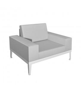 Fauteuil Luana Aluminium Blanc
