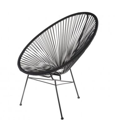 fauteuil acapulco noir - structure acier noir - hØgen