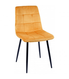 Chaise Manta Jaune Gold Velours Ras