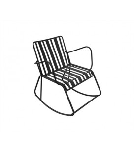 Rocking Chair Lines Noir Mat - Outdoor Leitmotiv
