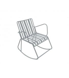 Rocking Chair Lines Gris - Outdoor Leitmotiv