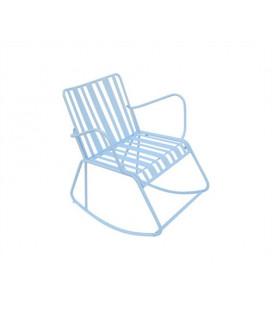 Rocking Chair Lines Bleu - Outdoor Leitmotiv