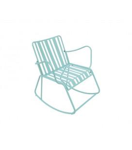 Rocking Chair Lines Vert - Outdoor Leitmotiv