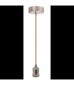 Suspension Libellule Bambou Ø100cm et Câble Douille Argenté