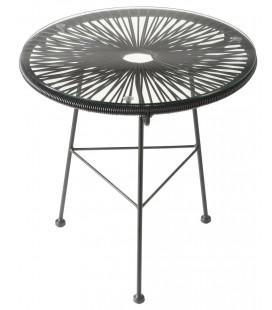 Table Acapulco Noire Ø50cm
