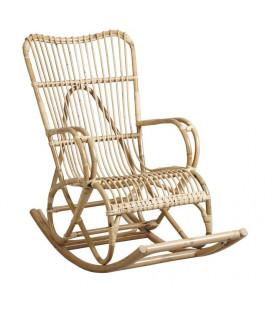 Rocking Chair en Rotin Manau Naturel