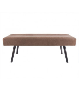 Banc Explicit Leitmotiv Velours Chocolat Marron