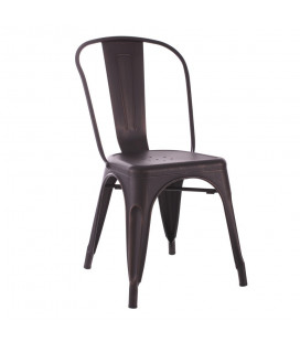 Chaise Dallas Noir Vieilli Or
