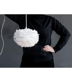 Suspension Eos Blanc Mini + Cordon Noir