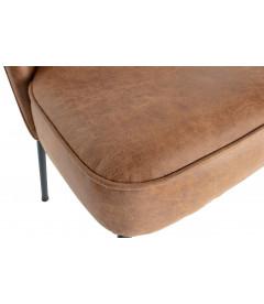 Chaise Vogue Cuir Cognac