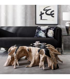 Table de Salon Natural Black 120cm