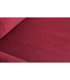 Canapé Woood Roc 187cm Velours Rouge