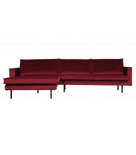 Canapé Chaise Longue Rodéo Gauche Velvet Rouge