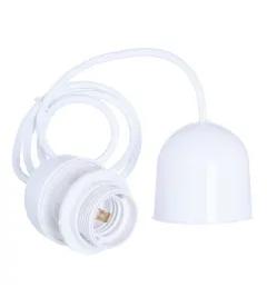 Suspension Libellule Bambou Ø55cm et Câble Douille BLANC PVC