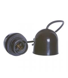 Suspension Libellule Bambou Ø65cm et Câble Douille NOIR PVC