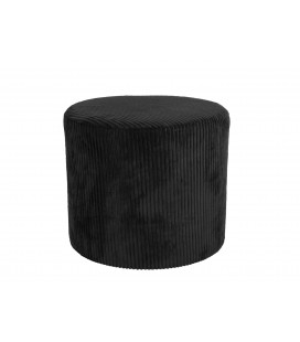 Pouf Glam Corduroy Velvet H40 Noir