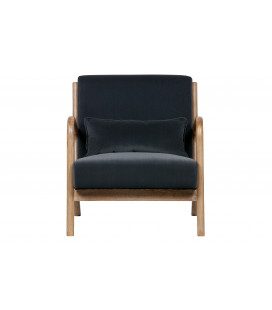 Fauteuil Mark Velours Anthracite