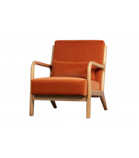 Fauteuil Mark Velours Melon