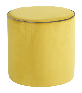 Pouf Countra Jaune Citron Gris/Taupe