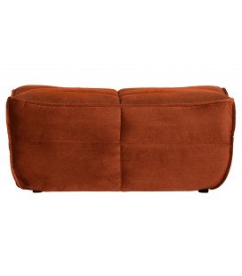Pouf Cluster Velours Rouille