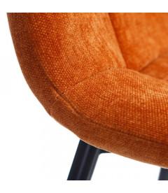 Set de 4 Chaises Manta P38 Orange Nuageux