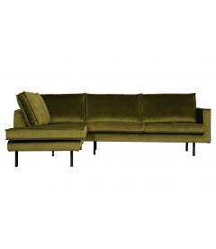 Canapé d'Angle Rodéo Gauche Velvet Vert Olive
